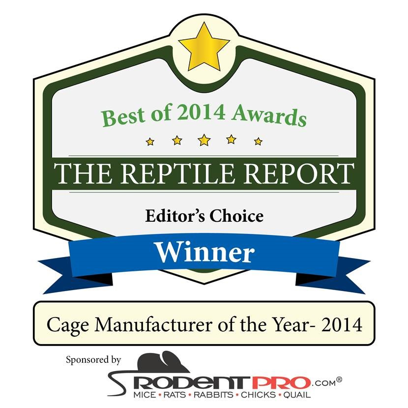 Reptile Report Editors Choice - Manufacturer of the year.